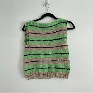 Hand knit vintage sweater vest